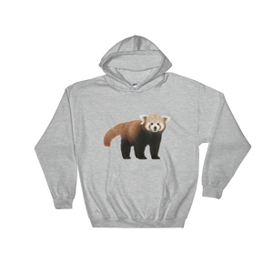 Red-Panda Print Hooded Sweatshirt