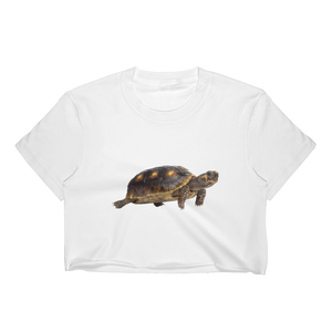Tortoise Print Women's Crop Top