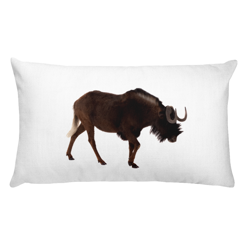 Wilderbeast Print Rectangular Pillow