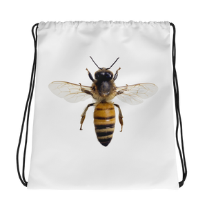Honey-Bee Print Drawstring bag