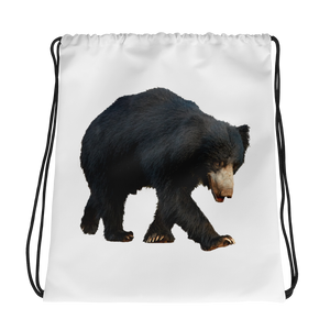 Sloth-Bear- Print Drawstring bag