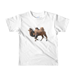 Bactrian-Camel Print Short sleeve kids t-shirt