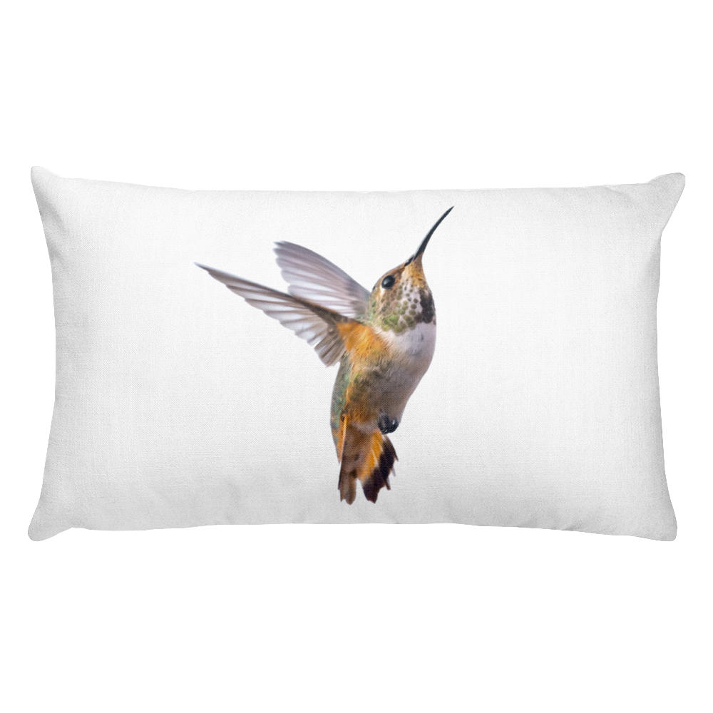 Hummingbird Print Rectangular Pillow