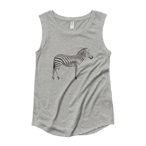 Zebra Ladies‰۪ Cap Sleeve T-Shirt
