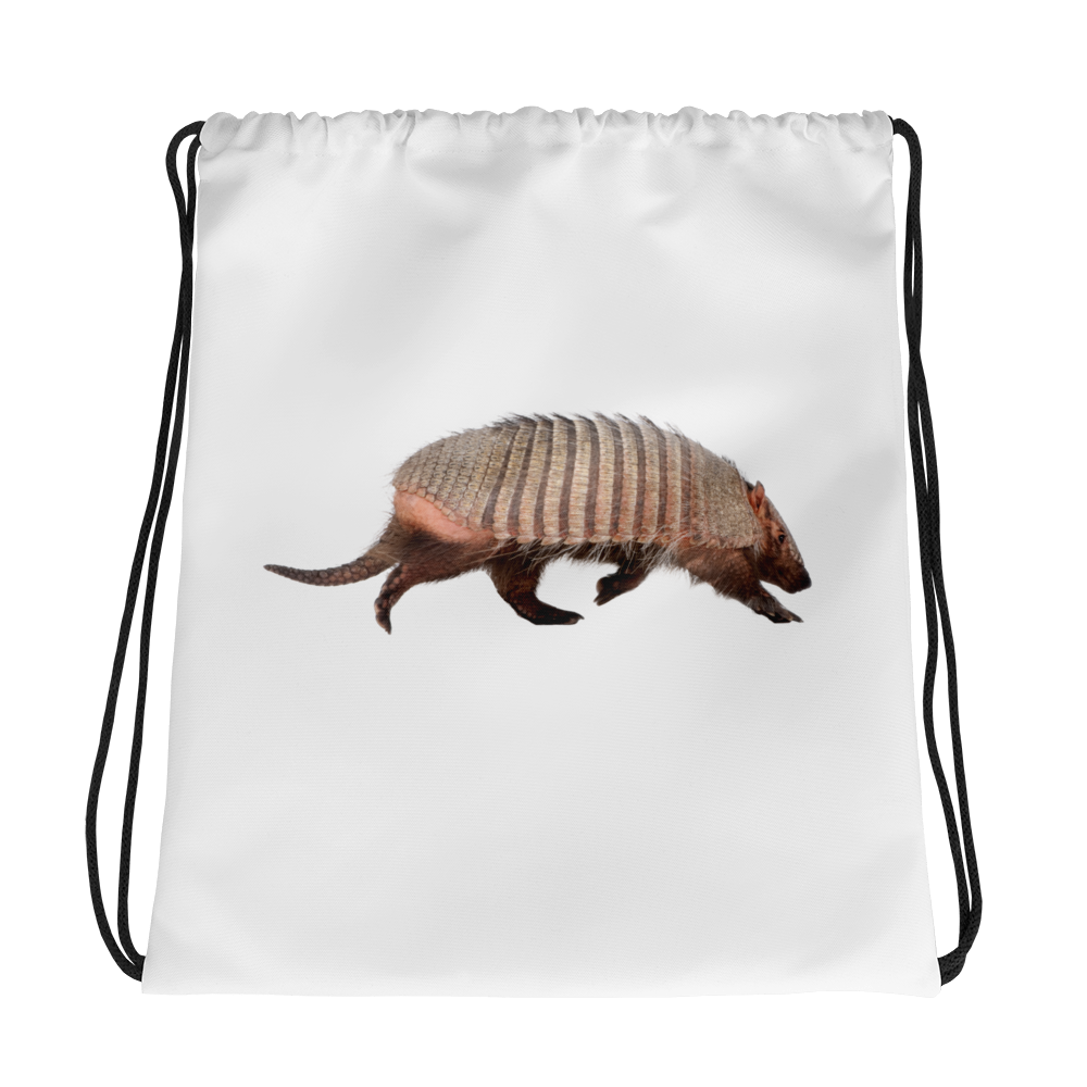 Armadillo Print Drawstring bag