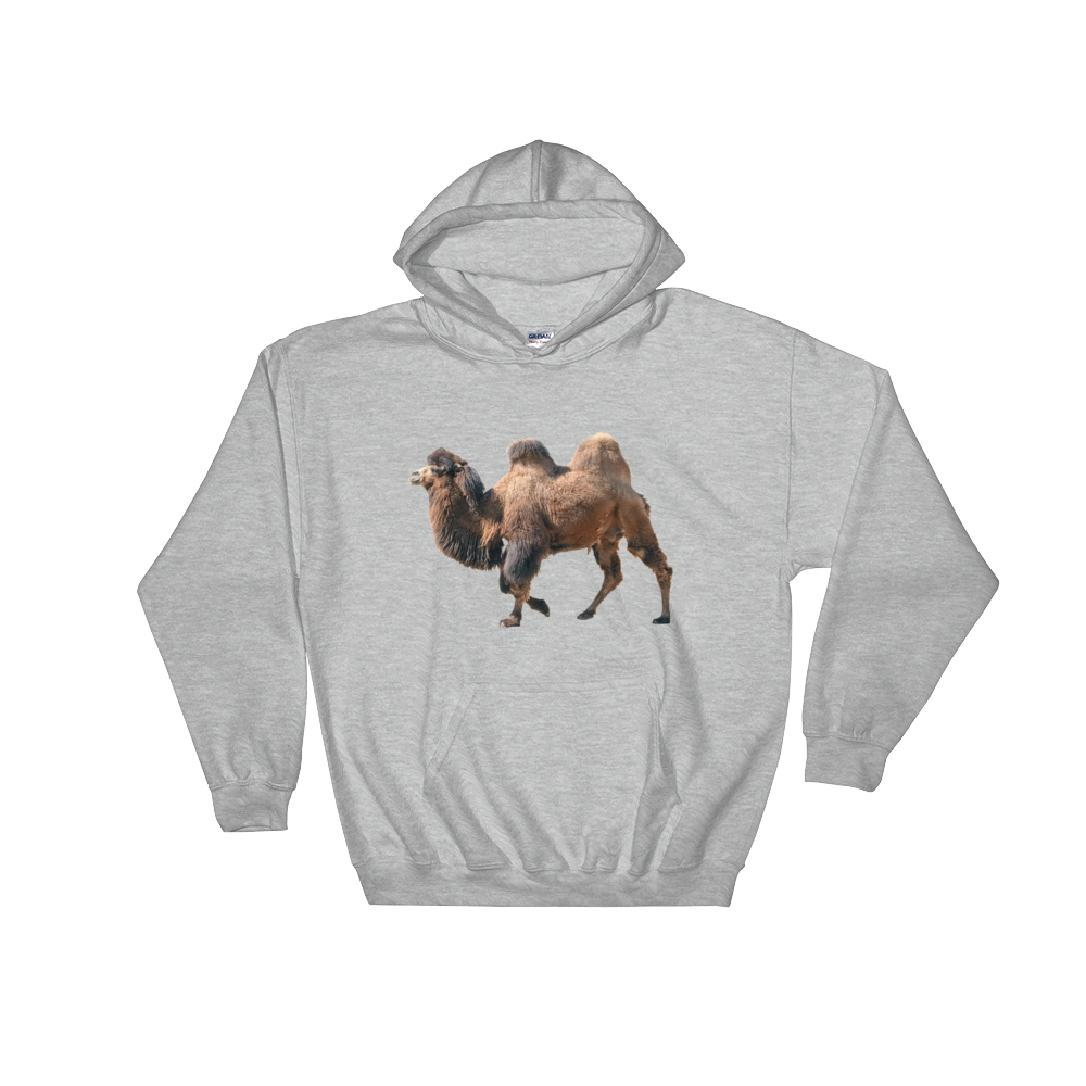 Bactrian-Camel Print Hooded Sweatshirt