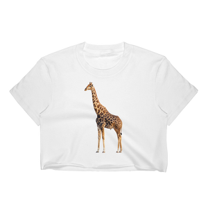 Giraffe Print Women's Crop Top