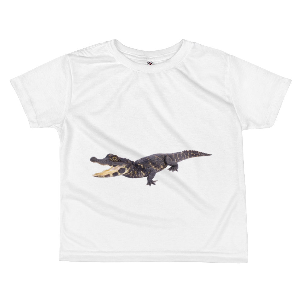 Dwarf-Crocodile Print All-over kids sublimation T-shirt