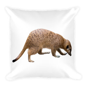 Mongoose Print Square Pillow