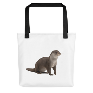 European-Otter Print Tote bag