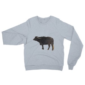 Water-Buffalo Print Unisex California Fleece Raglan Sweatshirt