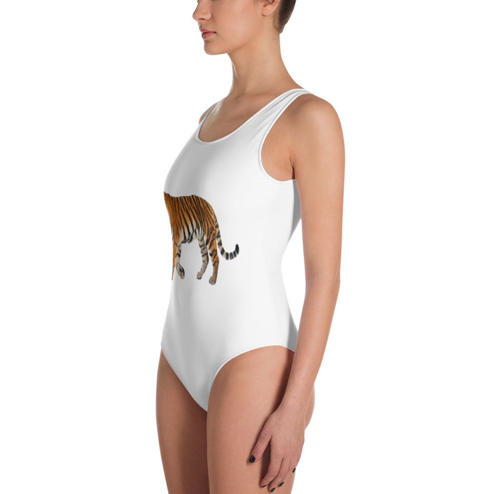 Siberian-Tiger Print One-Piece Swimsuit