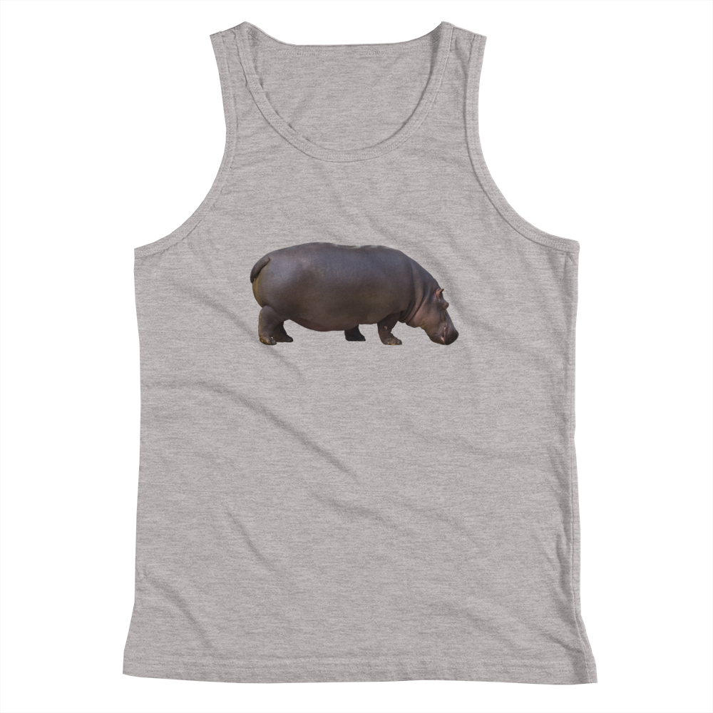 Hippopotamus Print Youth Tank Top