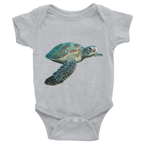 Sea-Turtle Print Infant Bodysuit