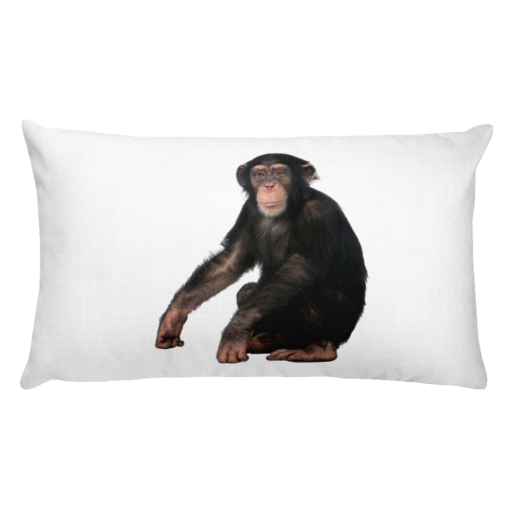 Chimpanzee Print Rectangular Pillow