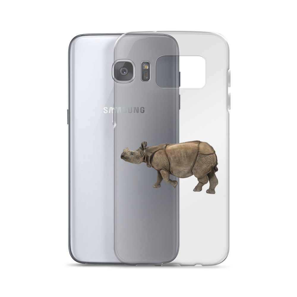 Indian-Rhinoceros Print Samsung Case