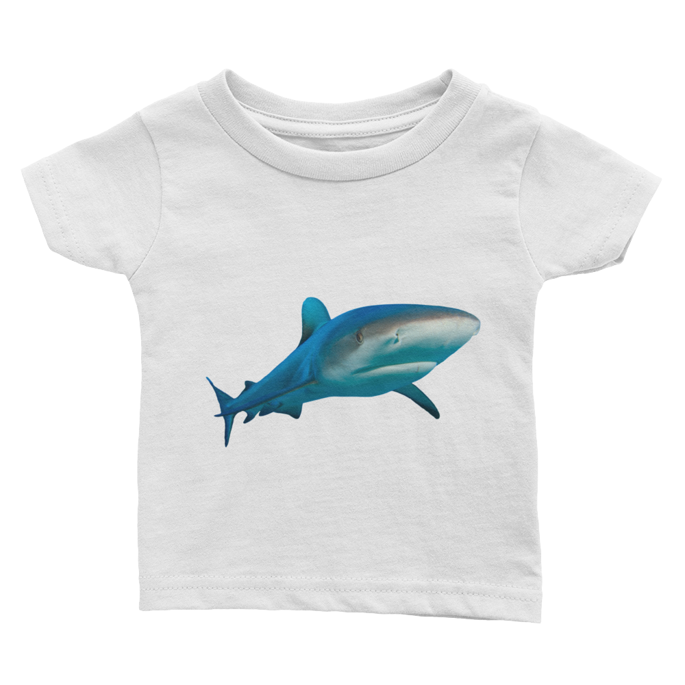 Great-White-Shark Print Infant Tee