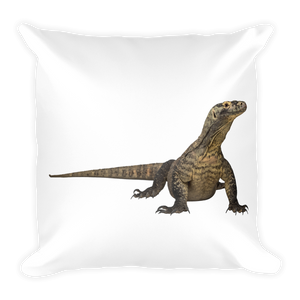 Komodo-Dragon Print Square Pillow
