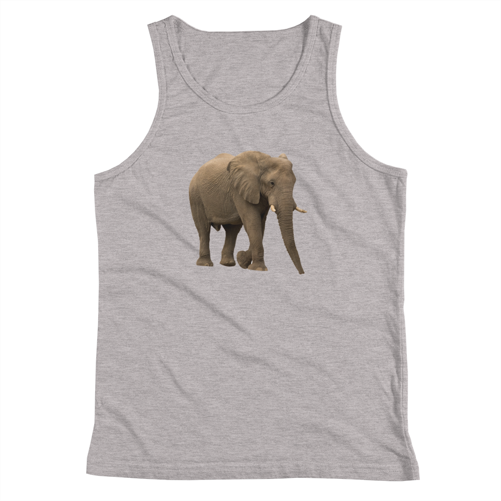 African-Forrest-Elephant Print Youth Tank Top