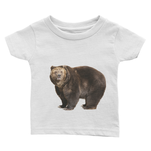 Brown-Bear Print Infant Tee