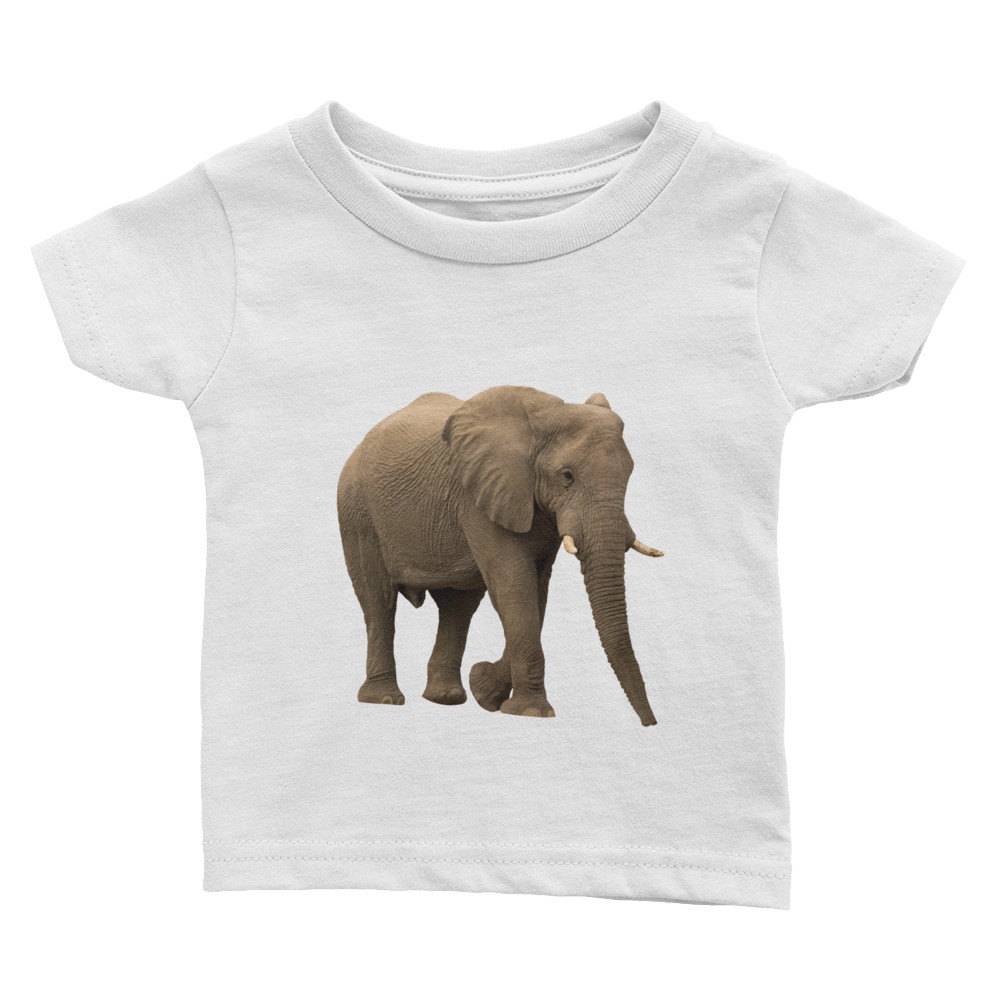 African-Forrest-Elephant Print Infant Tee