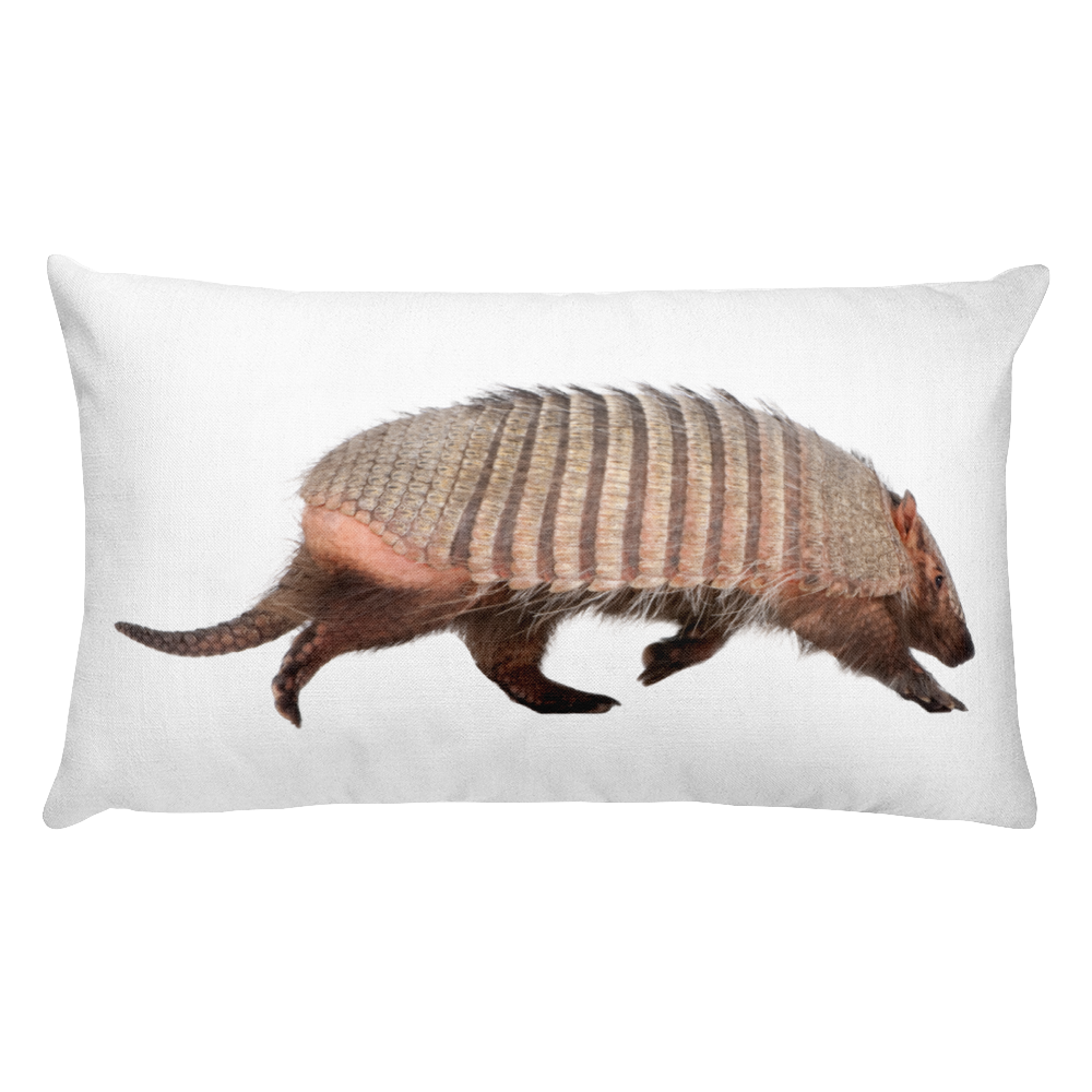 Armadillo Print Rectangular Pillow