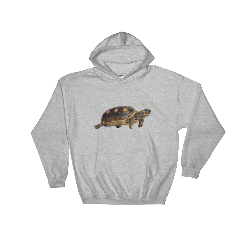 Tortoise- Print Hooded Sweatshirt