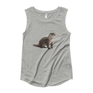 European-Otter Ladies‰۪ Cap Sleeve T-Shirt