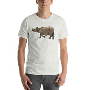 Indian Rhinoceros Print Short-Sleeve Unisex T-Shirt