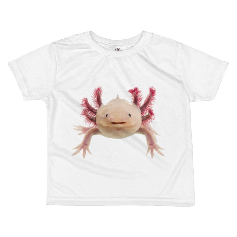 Axolotle Print All-over kids sublimation T-shirt