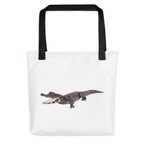 Dwarf-Crocodile Print Tote bag