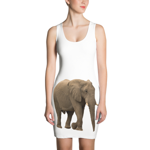 African-Forrest-Elephant- Print Sublimation Cut & Sew Dress