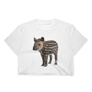 Tapir Print Women's Crop Top