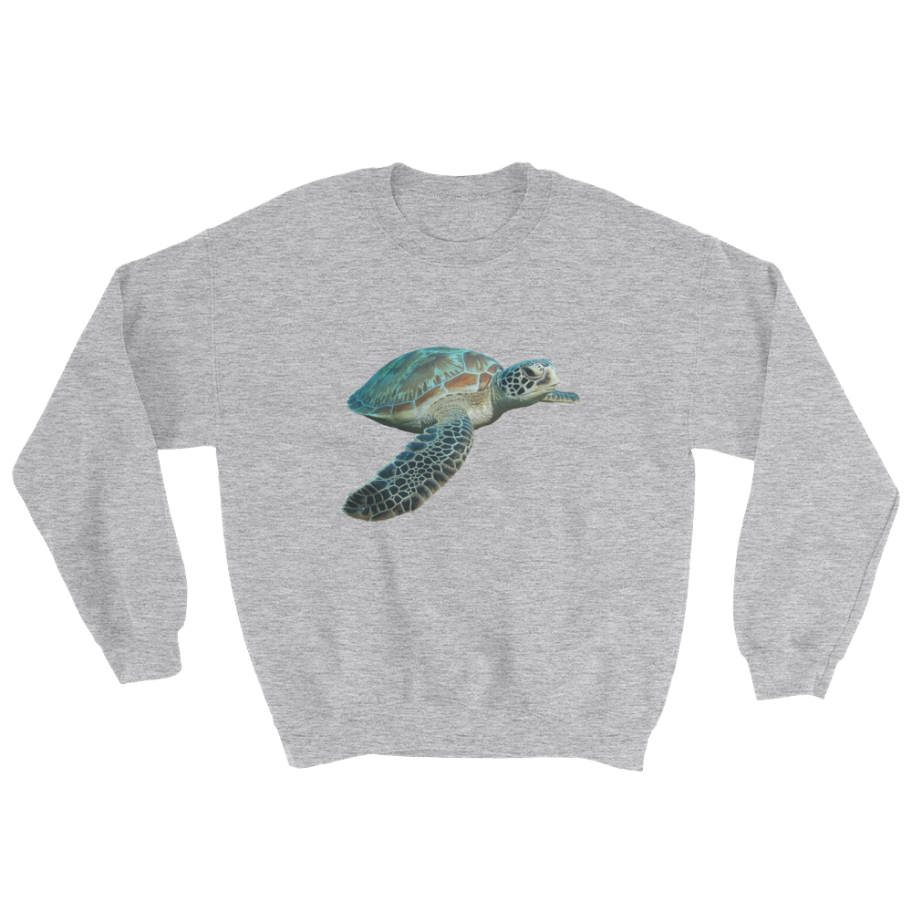 Sea-Turtle Print Sweatshirt