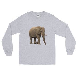 African-Forrest-Elephant Print Long Sleeve T-Shirt