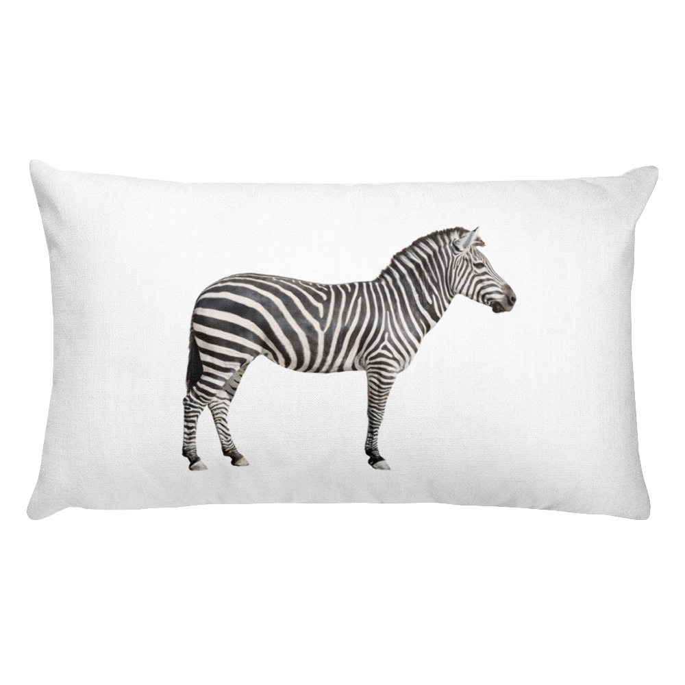 Zebra Print Rectangular Pillow