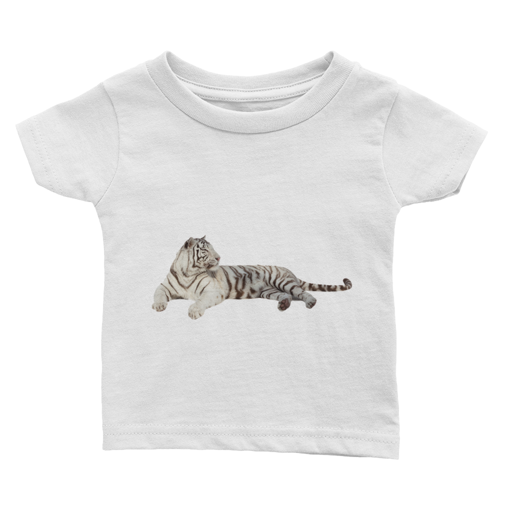White-Tiger Print Infant Tee
