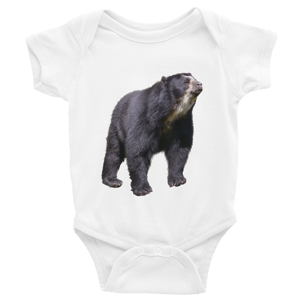 Specticaled-Bear Print Infant Bodysuit