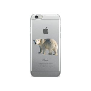 Polar-Bear- Print iPhone Case
