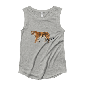 Siberian-Tiger Ladies‰۪ Cap Sleeve T-Shirt