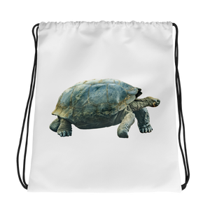 Galapagos-Giant-Turtle Print Drawstring bag
