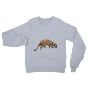 Mongoose print Unisex California Fleece Raglan Sweatshirt