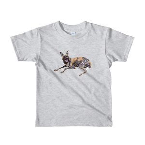 African-Wild-Dog Print Short sleeve kids t-shirt