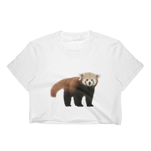 Red-Panda Print Women's Crop Top