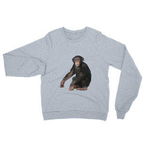 Chimpanzee print Unisex California Fleece Raglan Sweatshirt