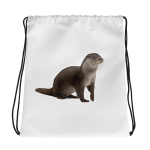 European-Otter Print Drawstring bag
