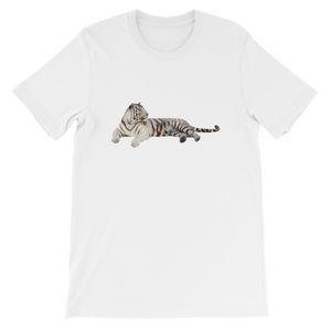 White Tiger  Short-Sleeve Unisex T-Shirt
