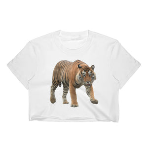 Bengal-Tiger Print Women's Crop Top