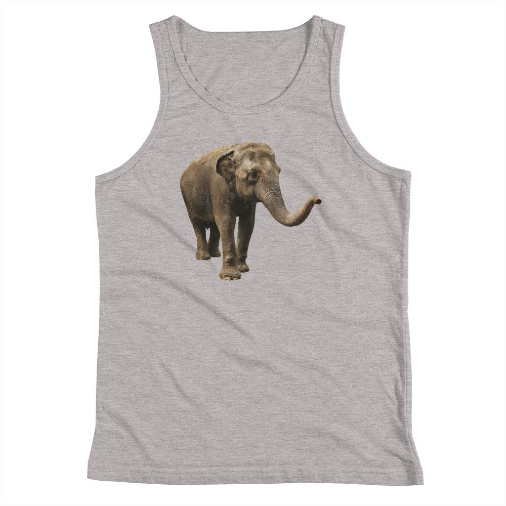 Indian-Elephant Print Youth Tank Top