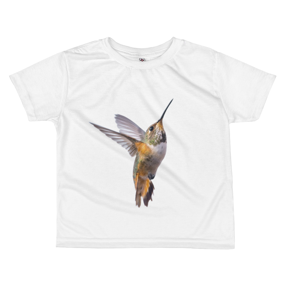 Hummingbird Print All-over kids sublimation T-shirt